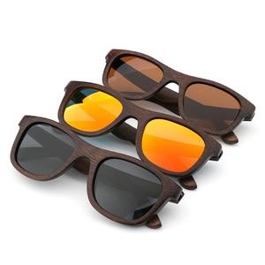 Image 4 - 최고의 수제 럭셔리 선글라스 남자 편광 된 얼룩말 빈티지 대나무 나무 여성 선글라스 안경 케이스 상자와 높은 품질