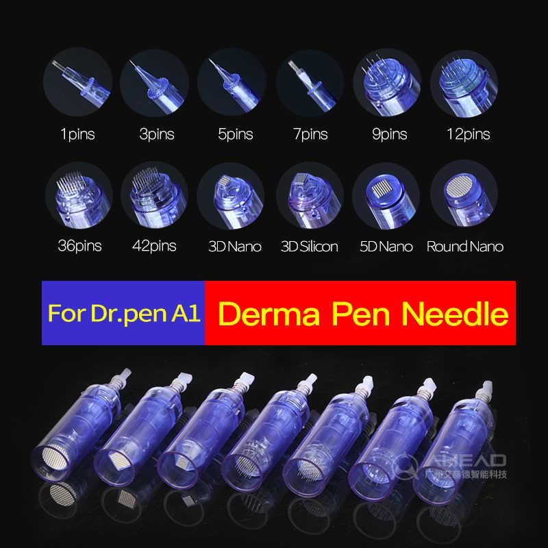 Dr. caneta micro needling 30 pçs elétrica derma caneta agulha cartucho 9 12 36 42 pinos nano cartucho para dr caneta ultima a1 caneta cuidados com a pele