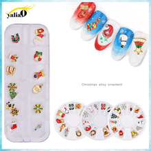 Get more info on the YALIAO Christmas Nail Art Decoration Mixed Colorful Rhinestones Diy Nail Art In Wheel Crystal Glitter Christmas�Series Alloy