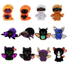 Ty beanie série de halloween brinquedos recheados reaper aranha morcego múmia