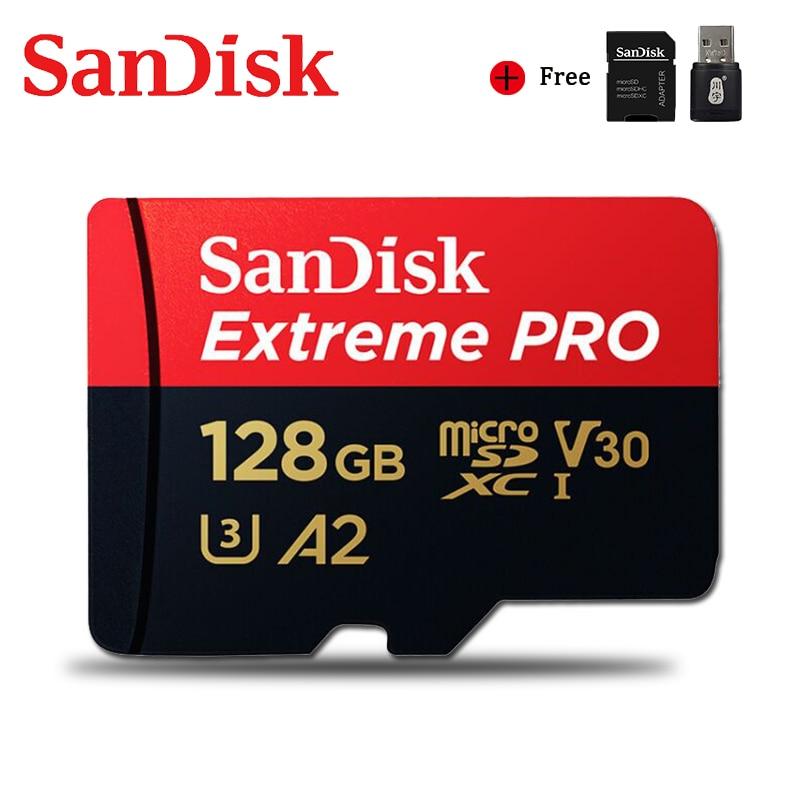 SanDisk-tarjeta de memoria Extreme Pro Ultra, memoria Flash SD/TF MicroSD U1/U3 4K, 128 GB, 64GB, 32GB, 256GB, 400GB, 32gb, 128 GB