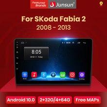 Junsun v1 android 10.0 dsp carplay rádio do carro multimídia vídeo player auto estéreo gps para skoda fabia 2 2008 - 2013 2 din dvd