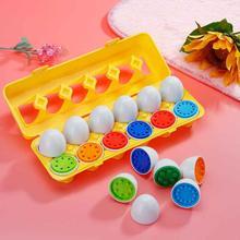 Монтессори игрушки Дети дошкольного обучения Дети подсчета цвет формы Соответствующие яйцо математика игрушка Детские Обучающие Развивающие игрушки