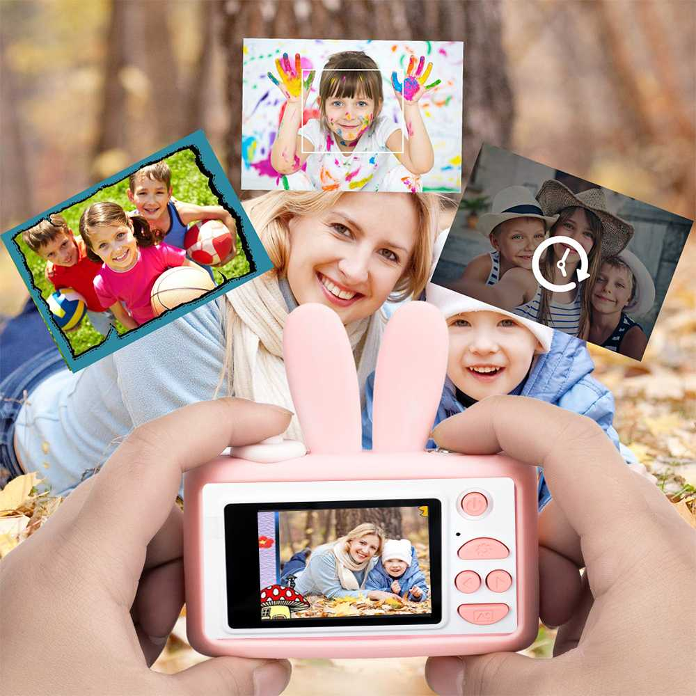 Mini HD 1080P 2.0 Inch IPS Digital Camera Funny Educational Toys With Silicone Case For Kids Children Birthday Christmas Gift