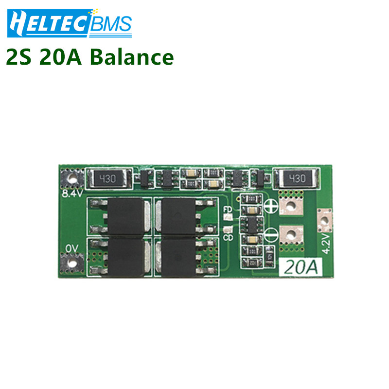 <font><b>2S</b></font> <font><b>20A</b></font> <font><b>BMS</b></font> With Balance 7.4V 8.4V 18650 <font><b>BMS</b></font> Lithium battery protection board/<font><b>BMS</b></font> board Electric fish machine image