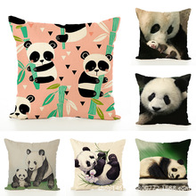 Literature Concise Automobile Pillow Originality Lovely Panda Embrace Case Waist By Decorative Pillows