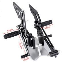 Footrest Sets Rearsets Rear For SUZUKI GSX-R600 GSX-R750 2006 2007 2008 2009 2010 Shift Lever Brake Pedal Foot Pegs Rear Set цены онлайн