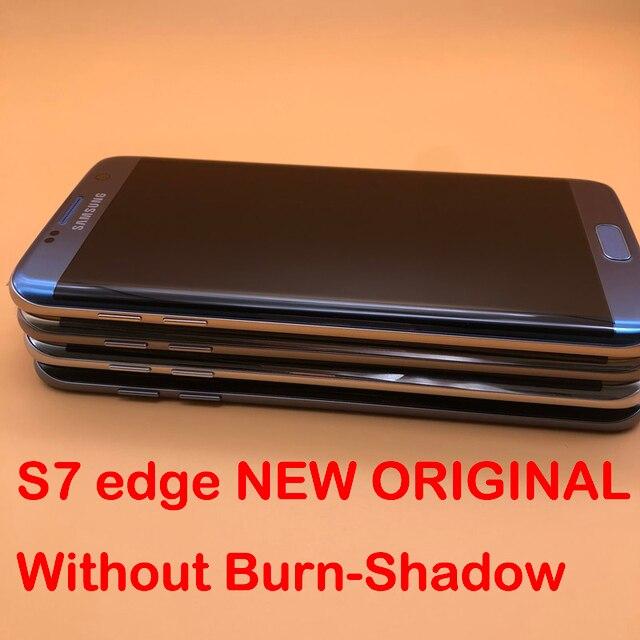 5.5 Originele Super Amoled Display Voor Samsung Galaxy S7 Rand G935 SM G935F G935FD Lcd scherm Touch Digitizer Met Frame