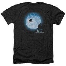 E.T. ET Extra terrestre film vélo lune scène Heather T-Shirt toutes les tailles dessin animé T-Shirt hommes unisexe nouvelle mode T-Shirt