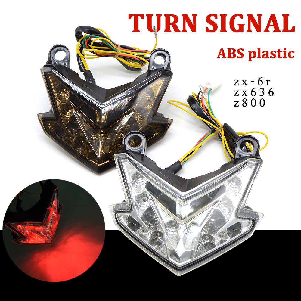 Motorbike LED Tail Light Taillight Integrated Stop Motorcycle Rear Lamp Turn Signals Light 169v For Kawasaki Z800 ZX-6R ZX636