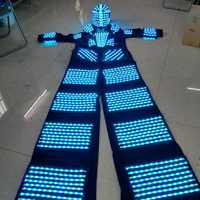 Stilts Walker LED Lights Costumes LED Dancer Costume LED Robot Suit For Party Performance Electronic Music Festival DJ Show