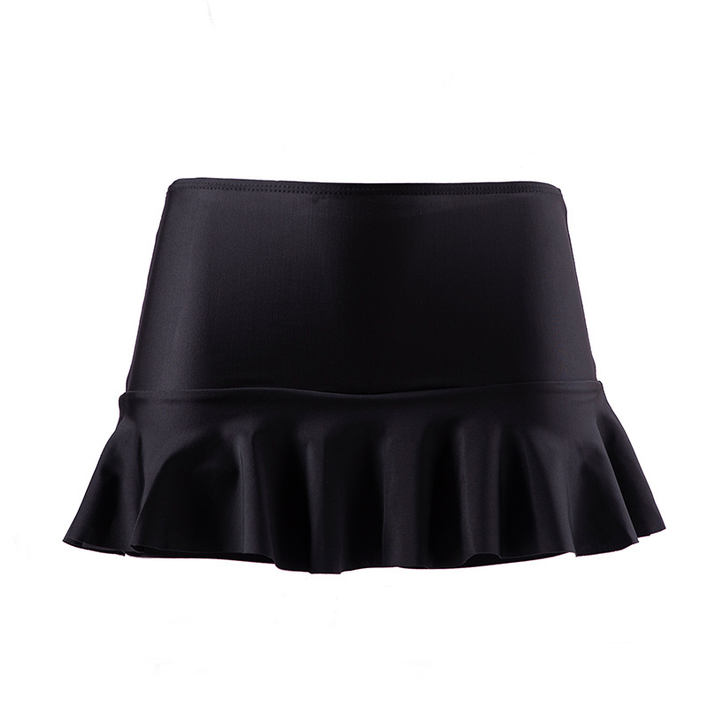 Wholesale AliExpress Japanese Korean Beach Hot Springs High-waisted Solid Color Alone Boxer Triangular Skirt Swimming Trunks Bat