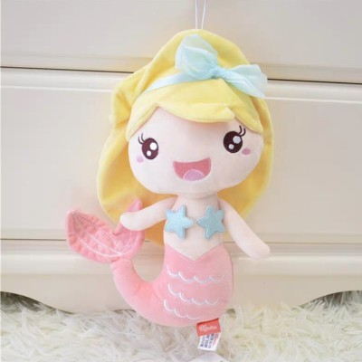 Cute plush Q Style Mermaid soft fish doll animal Animation toys for Girl gift birthday present pillow