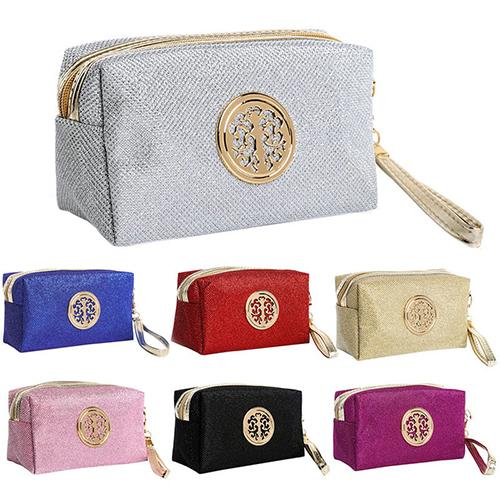 2020 Glitter Cosmetic Bag Glitter Clutch Bag Bright Leather Handbag Explosion Model Cosmetic Bag Free Shipping