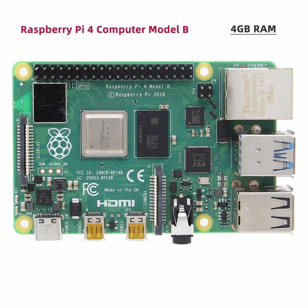 Raspberry Pi 4 Модель B + X825 SSD и HDD SATA доска с металлической чехол + X735 Мощность Управление доска + DC 5V 4A Питание комплект