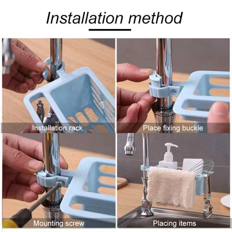 1 pçs armazenamento rrack cozinha pia caddy esponja titular organizador de armazenamento multi-purpose sabão escorredor rack filtro
