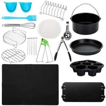20 шт., воздушные фритюрницы, аксессуары для домашней кухни, инструменты для приготовления барбекю, для выпечки, для приготовления пищи, подх...