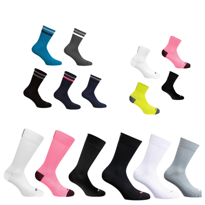 New 4 Style Comfortable Breathable Road Bike Socks Men Women Rapha Cycling Socks Calcetines Ciclismo Compression Racing
