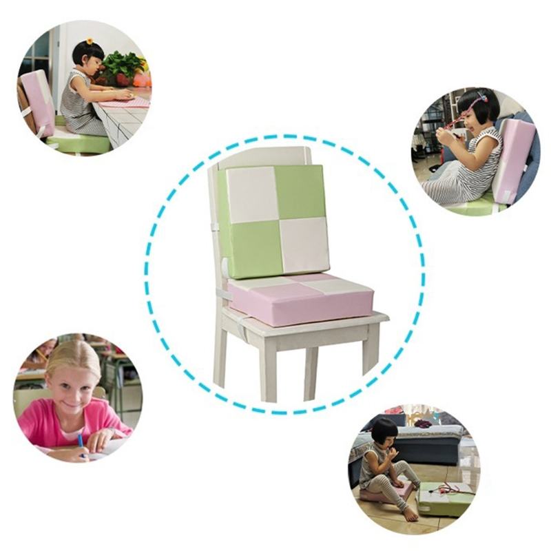 35x35x8cm Child Toddler High Chair Seat Booster Baby Infant PU Leather Increasing Cushion Pad