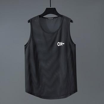Summer fashion brand bodybuilding tank top tank top muscle Breathable quick-drying men's Mesh vest plus size 11XL 10XL 9XL 8XL цена 2017