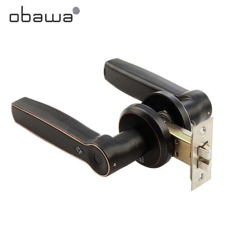 Obawa fechadura da porta de impressão digital biométrica fechadura inteligente com código digital ic cartão desbloquear fechadura da porta eletrônica interna