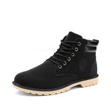 High-top casual martin boots in autumn and winter bota coturnos masculino walking shoes men zapatos de hombre para caminar
