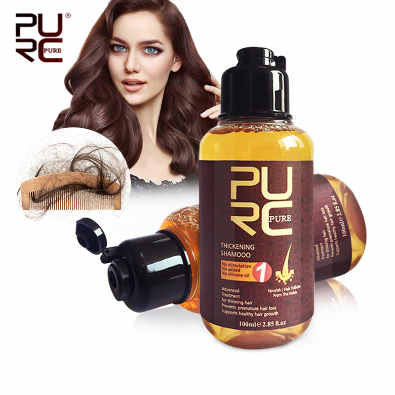 PURC 100ml Thickening Shampoo Ginger Hair Care Essences Treatment For Prevent Hair Loss Hair Growth Serum Hare Care Products image
