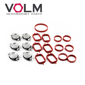auto car aluminum Swirl Flaps Replacement Removal Blanking Plates Intake Manifold gasket for BMW image