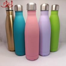 500ml parede dupla 304 garrafa térmica de aço inoxidável moda garrafa térmica vácuo ao ar livre portátil esporte garrafa de água da bebida térmica