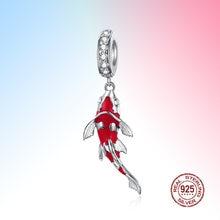 Ожерелье с подвеской lucky fish кулон из чистого серебра 925