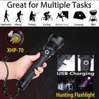 XHP70.2 wasserdichte LED taschenlampe 90000 lumen zoom taschenlampe mehr leistungsstarke 26650 usb taschenlampe xhp50 taschenlampe xhp50 18650 h