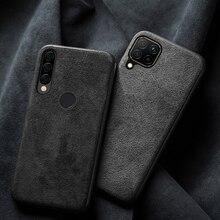 טלפון מקרה עבור Huawei Mate 20 30 P20 P30 P40 לייט כבוד 8X מקס 9X 9 10 10i 20 20i נובה 5T P Smatr 2019 זמש עור TPU כיסוי