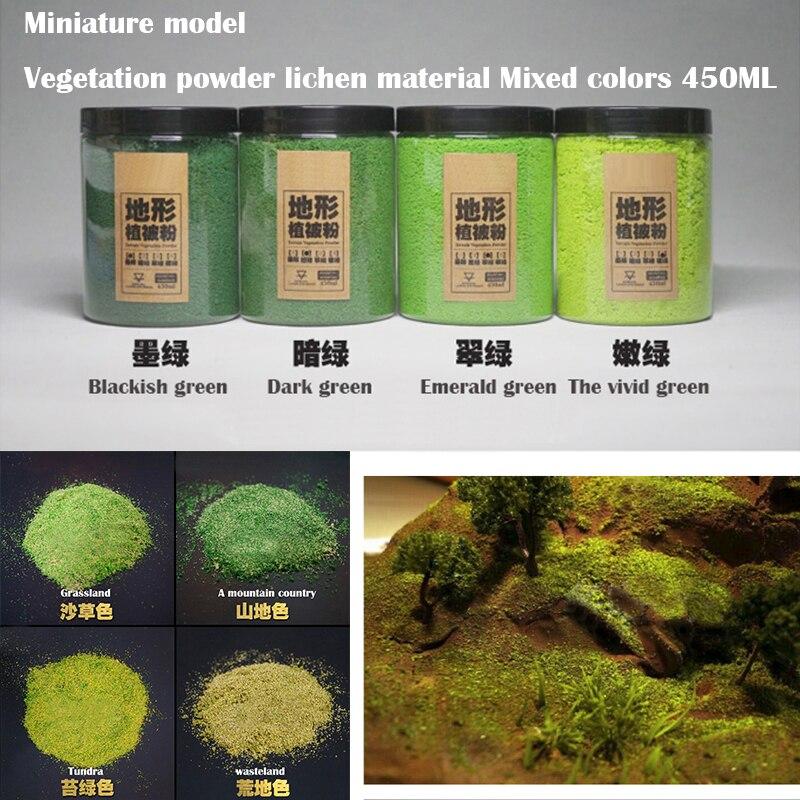 Miniature Model  Vegetation Powder Lichen Material  Mixed Colors  Sand Table Materials For DIY Model Platform Scene