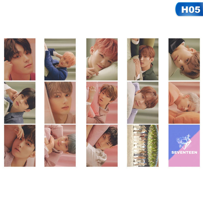 14PCS/Set KPOP Seventeen Fallin'Flower Album Lomo Photo Card PVC Cards Self Made Card Photocards