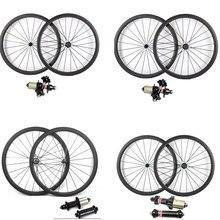 SUPER LIGHT Powerway R13 R36 จักรยานคาร์บอนล้อ 700C 38 50 60 88mm Clincherท่อRoad BIKEล้อAS511SB FS522SB HUB