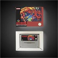 Super Metroided tarjeta de juego versión europea, batería RPG, guardar con caja de venta al por menor