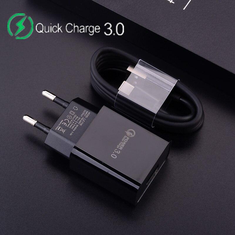 Быстрое зарядное устройство 12 В, 2 А, 3 А, QC 3,0 для Samsung S8, Huawei, Xiaomi Redmi, кабель Micro USB Type-C, зарядное устройство Usb, быстрое зарядное устройство, адап...