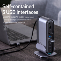 Baseus USB C HUB Type C to Multi HDMI-compatible USB 3.0 with Power Adapter Docking Station for MacBook Pro RJ45 OTG USB HUB