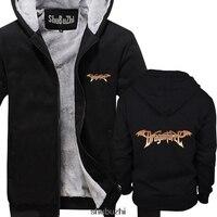 Dragonforce Logo Mens Black Rock thick hoody men thick hoodies male brand hoody winter thick coat sbz3305