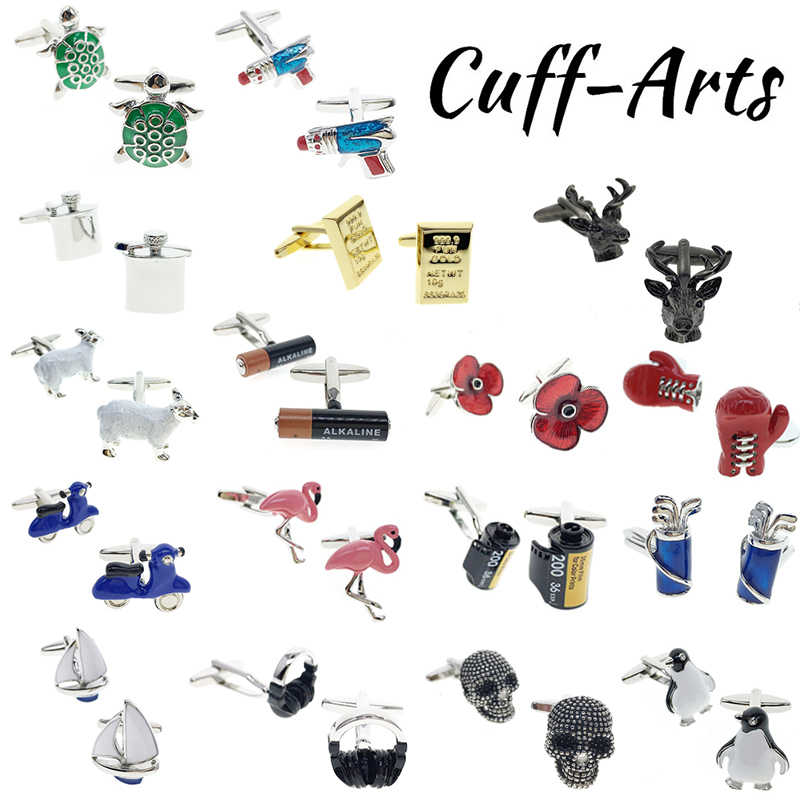 Cuffarts Cufflinks for Mens High Quality Flower Cufflinks Animal and Plant Wedding Cufflinks Luxury Shirt Cufflinks PT003