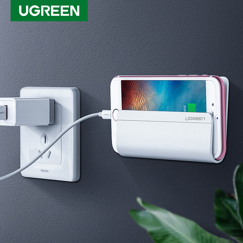 Ugreen mobiltelefon holder stativ til iPhone X 8 7 6 vægmonteret holder selvklæbende stativ til Samsung telefon tablet tablet stativ holder
