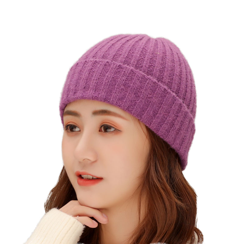 2019 Fashion Winter Warm Knitted Skullcap Short Thread Casual Hip Hop Men Wool Beanie Knitted Beanie Skull Cap Hat Adult Elastic Hats Unisex