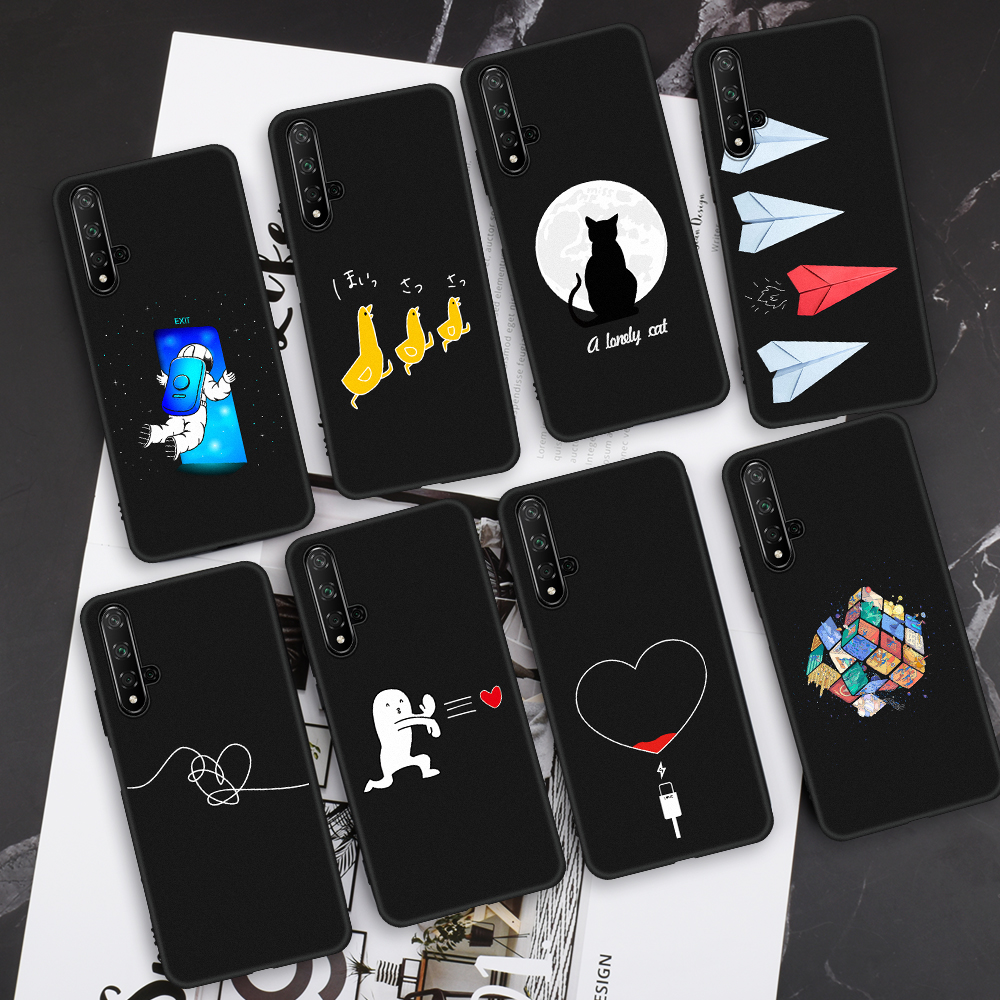 Cute Love Heart Silicone <font><b>Case</b></font> For <font><b>Huawei</b></font> <font><b>P20</b></font> <font><b>Lite</b></font> P30 Pro <font><b>Mate</b></font> 20 30 <font><b>Lite</b></font> Pro Nova 5t Phone <font><b>Case</b></font> Honor 20 10 <font><b>Lite</b></font> 8X 9X Cover image