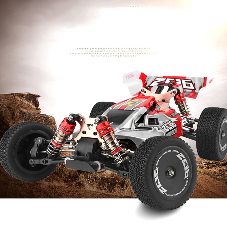 WLtoys 144001 1/14 2.4G Racing Remote Control Car Competition 60 km/h Metal Chassis 4wd Electric RC Formula Car USB Charging 4