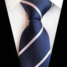 Men's Ties Black Necktie Wedding Party Stripe Ties Men Polyester Silk Fashion Tie Neckties Gifts for Men Clothing Accessories 7 5cm necktie business silk ties for men tie 2019 new arrival men s ties pattern black men wedding neckties