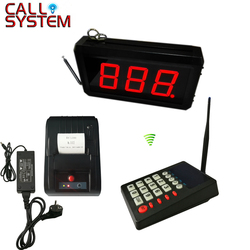 Queue Management System 2 or 3-digit number display with number ticket printer