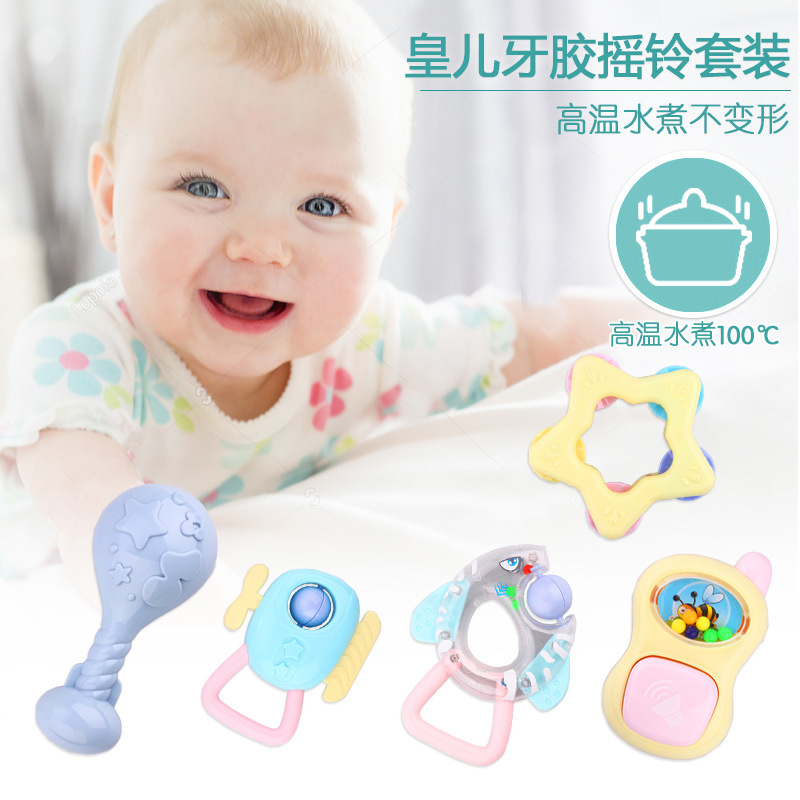 Infant Baby Early Childhood 0-3-6-12 A Crescent Glue Newborns Boys And 1-Year-Old Educational Rattle Toy 9