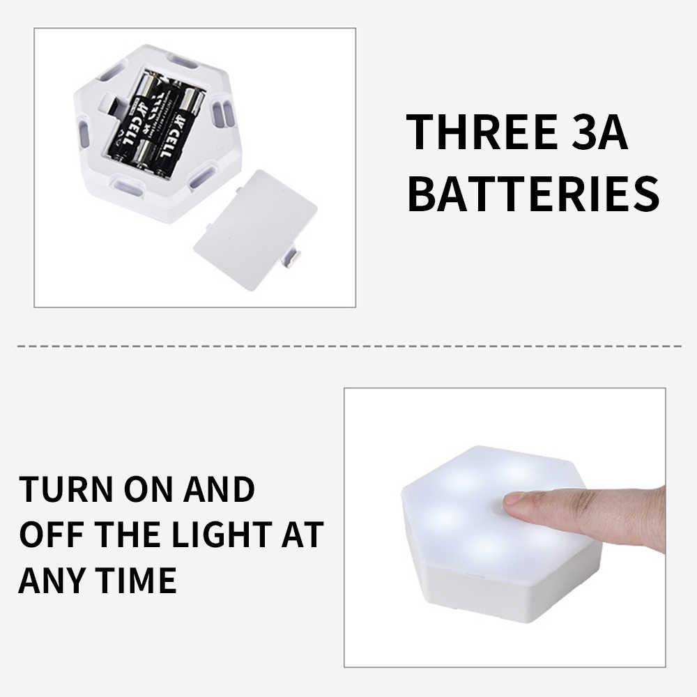 LEADLY 양자 램프 Led Splicable 터치 민감한 조명 육각 램프 야간 조명 원격 제어 벽 램프 야간 조명