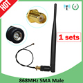 868MHz Antenna Lora Lorawan pbx 915MHz 5dbi SMA Male Connector GSM 868 MHz antena antenne waterproof RP-SMA/u.FL Pigtail Cable