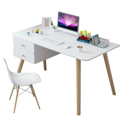 Nordic Computer Desk Desk Home Simple Student Writing Desk Desktop Simple Solid Wood Small Table Study Table With  Drawer